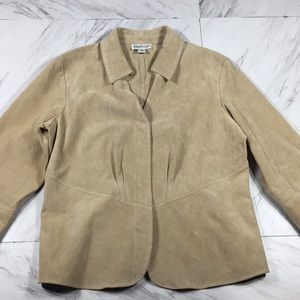 ⭐️ SIZE M COLDWATER CREEK 100% LEATHER (STAIN)